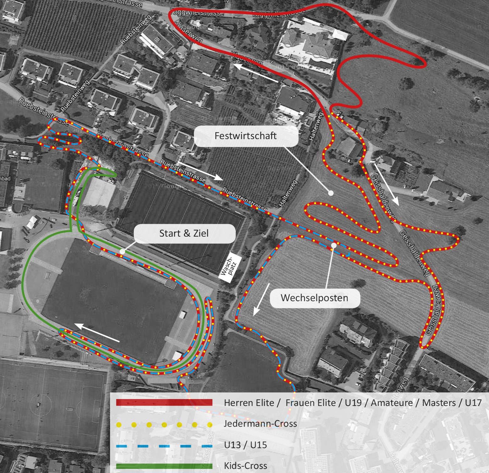 Streckenplan EKZ Cup Meilen