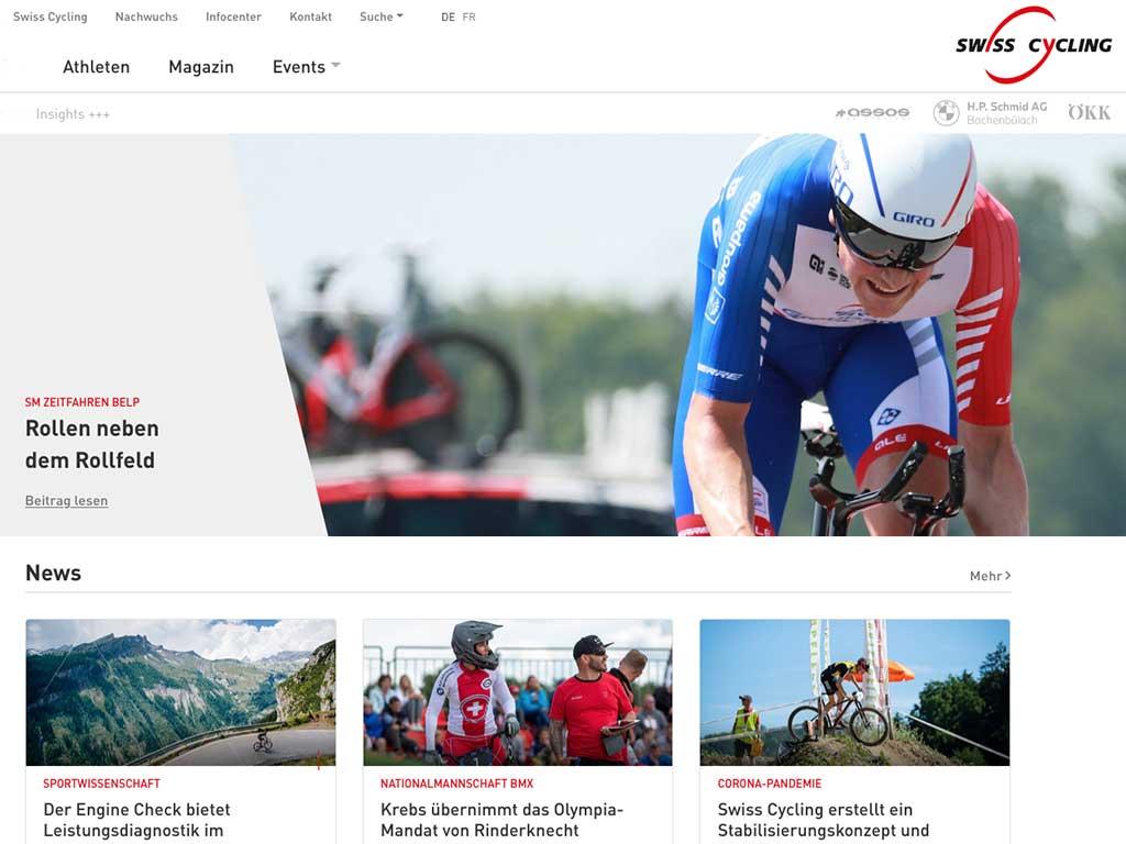 SWISS Cycling Website 2020